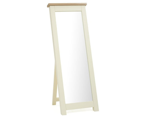Sandringham Oak and Cream Cheval Mirror