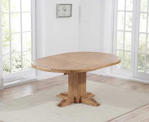 Turin 125cm Oak Extending Dining Table