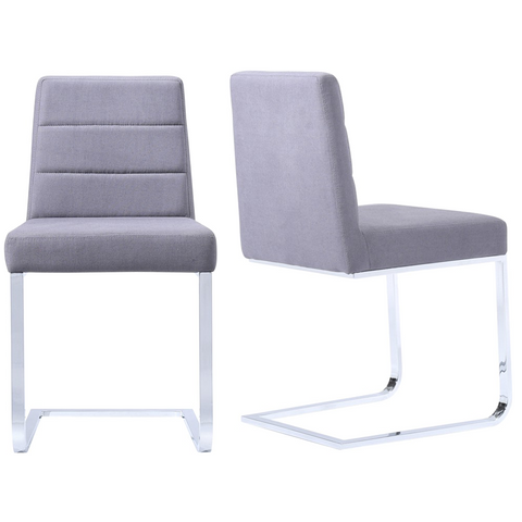 Roma Low Backed Dining Chair Blue Camira Wool - Pair