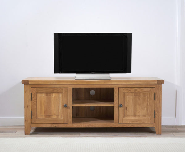 York 150cm Solid Oak TV Unit