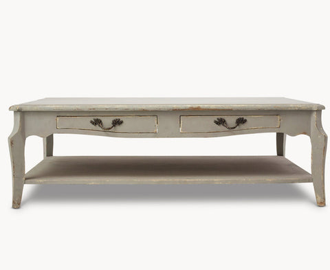 Woodcroft Distressed Mouse Grey Poplar Coffee Table