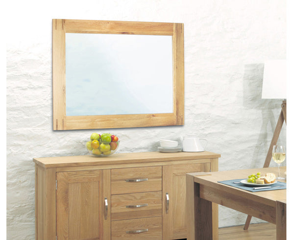 Aston Solid Oak Wall Mirror