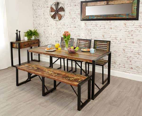 Urban Chic Large Reclaimed Wood Dining Table