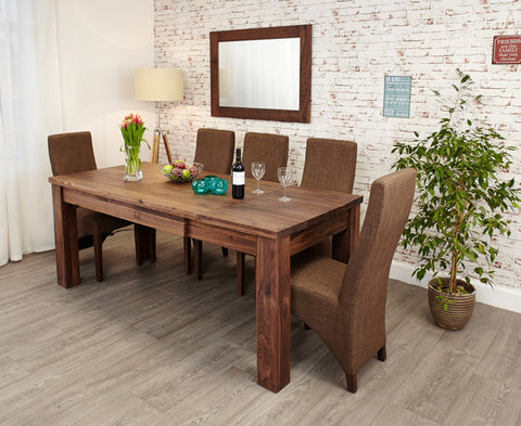 Mayan Solid Walnut Extending Dining Table