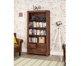 Mayan Solid Walnut Large 4 Drawer Bookcase