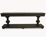 Woodcroft Oak Black Console Table