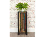 Urban Chic Reclaimed Wood Tall Plant Stand / Lamp Table