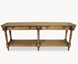 Woodcroft Vintage Oak Console Table with Drawers