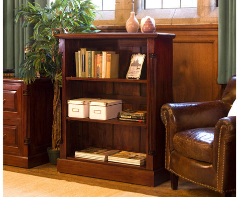 La Roque Low Open Solid Mahogany Bookcase