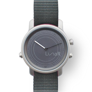 Grey solar smartwatch @LunaR