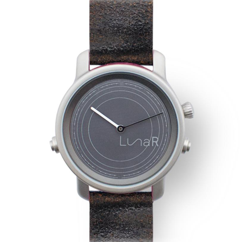 Walnut brown solar smartwatch @LunaR