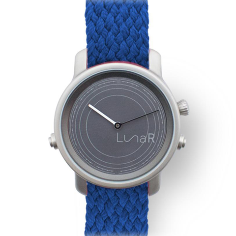 Royal blue solar smartwatch @LunaR