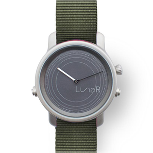 Green nylon solar smartwatch @LunaR