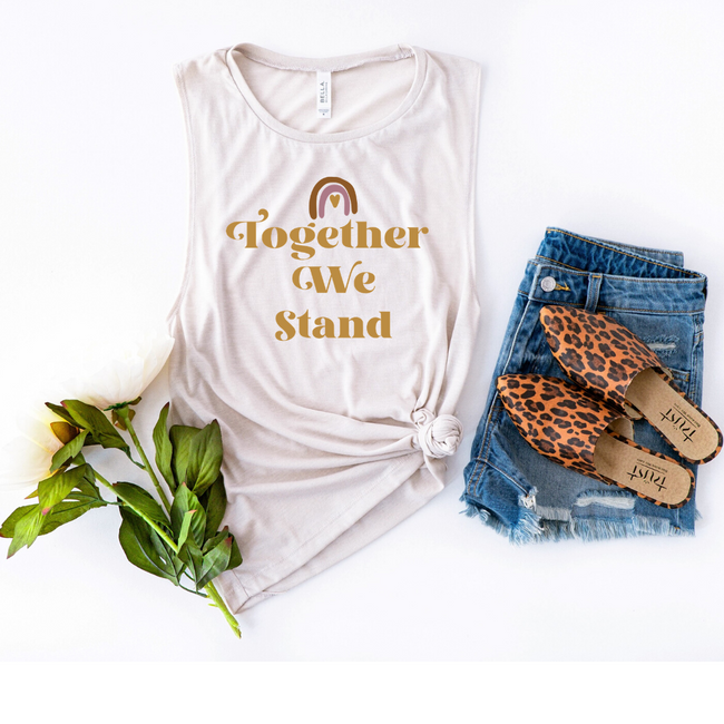 Together We Stand Muscle Tank Top