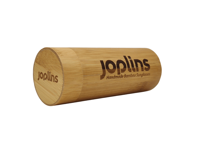 Rounded Cylinder Bamboo Case - Sunglasses Bamboo Case - JOPLINS® Sunglasses Case