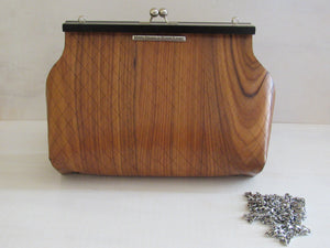 Wooden Handbags: The Morena Collection (Le Petite Sophia, Rosewood) - Wooden Element