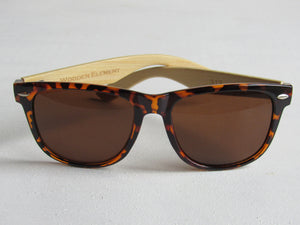 Wooden Sunglasses: Funky Buddha (Tortoise/Bamboo) - Wooden Element