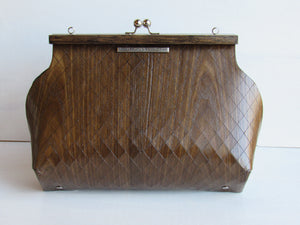 Wooden Handbags: The Morena Collection (Le Petite Sophia, Chestnut Wood) - Wooden Element