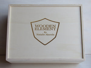 Wooden Handbags: The Vivienne Collection (Le Grand Rose) - Wooden Element