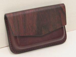Wooden Wallet: Le Lys Collection (Rose) - Wooden Element