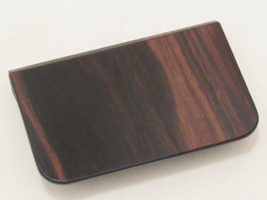 Wooden Wallet: Le Lys Collection (Ebony) - Wooden Element