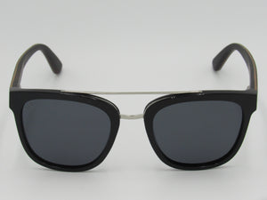 Wooden Sunglasses: New York (Black) - Wooden Element