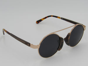 Wooden Sunglasses: The Chief (BLACK SMOKE) - Wooden Element