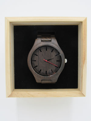 Wooden Watches: The Bay Collection (Red Dial) - Wooden Element