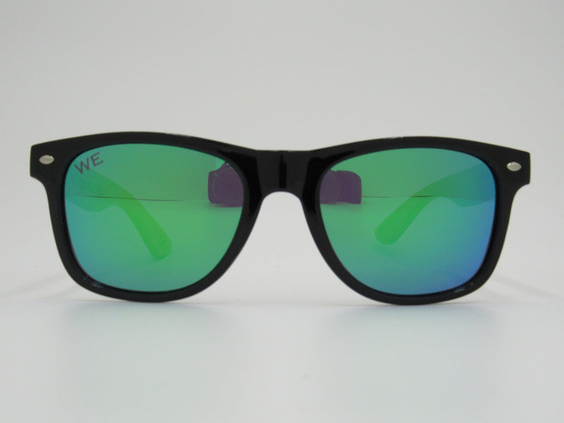 Wooden Sunglasses: Cross Color (Green)