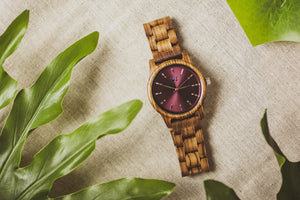 Time Bandit (Maroon) - Wooden Element