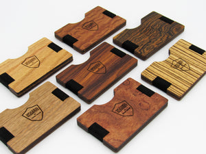 THE SRP Wooden Wallet Collection (Walnut) - Wooden Element