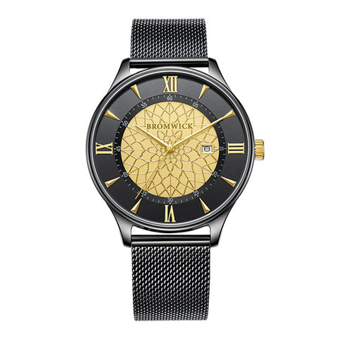 Tower Black-Yellow Gold Mesh
