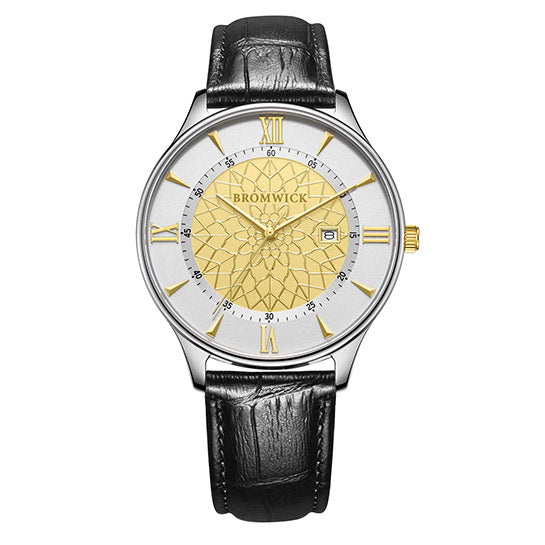 Tower Black-Yellow Gold Leather