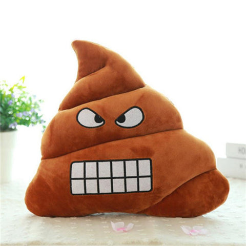 Angry Poop Pillow/Cushion