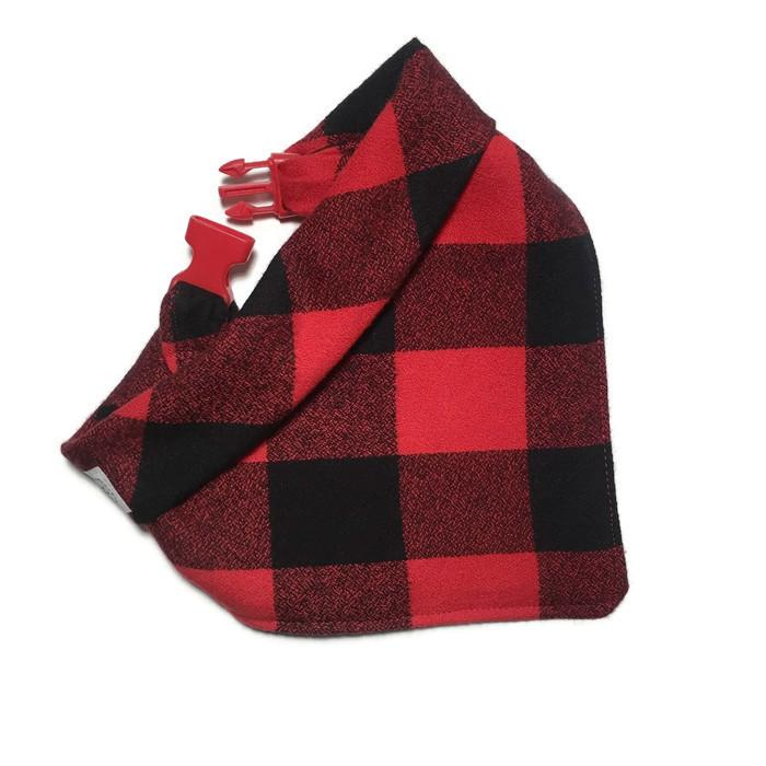 Red Buffalo Check Flannel showing the buckle clip feature