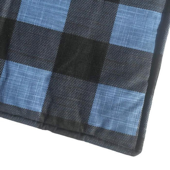 The Blue Chill Buffalo Check Dog Mat