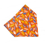 The Orange Leaves Dog Bandana