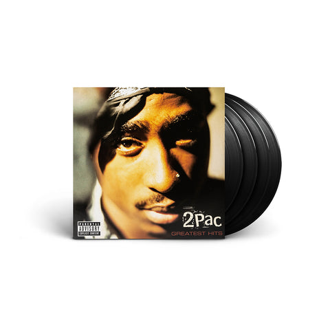 2PAC Greatest Hits - Black 4LP  + Digital Album - Bundle 2PAC OFFICIAL MERCHANDISE STORE - T-SHIRT - ALBUMS - LYRICS - CHANGES - MOVIE - MERCH - QUOTES - TUPAC - POEMS - POETRY