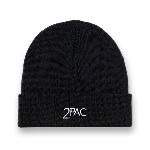 2Pac Logo Ribbed Beanie - Accessories 2PAC OFFICIAL MERCHANDISE STORE - T-SHIRT - ALBUMS - LYRICS - CHANGES - MOVIE - MERCH - QUOTES - TUPAC - POEMS - POETRY