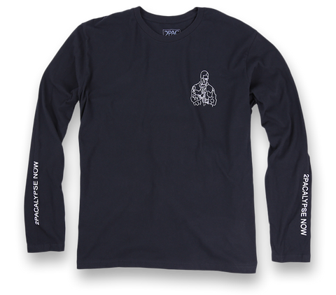 Straight Soulja Black Longsleeve - Apparel 2PAC OFFICIAL MERCHANDISE STORE - T-SHIRT - ALBUMS - LYRICS - CHANGES - MOVIE - MERCH - QUOTES - TUPAC - POEMS - POETRY
