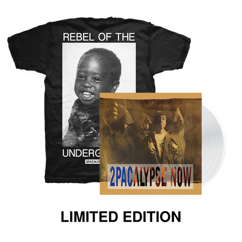 Rebel T-Shirt + Ltd. Edition Vinyl Bundle - Bundle 2PAC OFFICIAL MERCHANDISE STORE - T-SHIRT - ALBUMS - LYRICS - CHANGES - MOVIE - MERCH - QUOTES - TUPAC - POEMS - POETRY