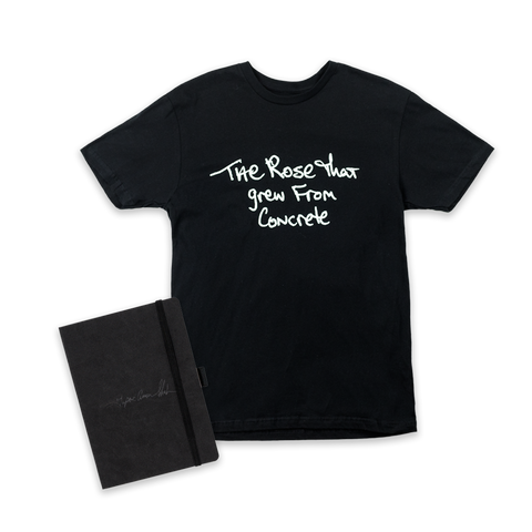 The Rose That Grew From Concrete T-shirt + 2PAC Journal (Choose Your Tee)