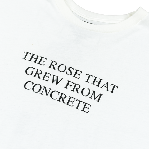 The Rose That Grew From Concrete T-shirt (White) - Apparel 2PAC OFFICIAL MERCHANDISE STORE - T-SHIRT - ALBUMS - LYRICS - CHANGES - MOVIE - MERCH - QUOTES - TUPAC - POEMS - POETRY