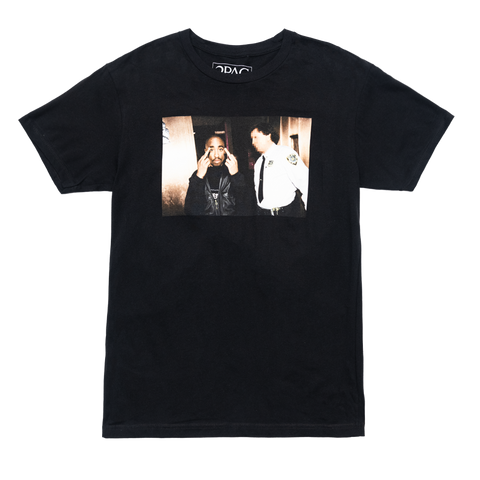 Cop Photo T-shirt (Black) - Apparel 2PAC OFFICIAL MERCHANDISE STORE - T-SHIRT - ALBUMS - LYRICS - CHANGES - MOVIE - MERCH - QUOTES - TUPAC - POEMS - POETRY