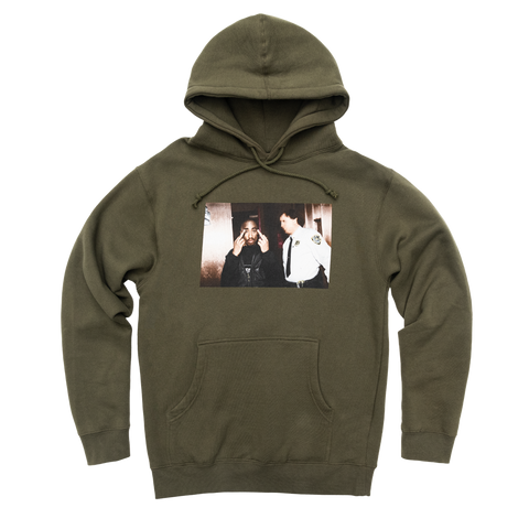 Cop Photo Hoodie - Apparel 2PAC OFFICIAL MERCHANDISE STORE - T-SHIRT - ALBUMS - LYRICS - CHANGES - MOVIE - MERCH - QUOTES - TUPAC - POEMS - POETRY
