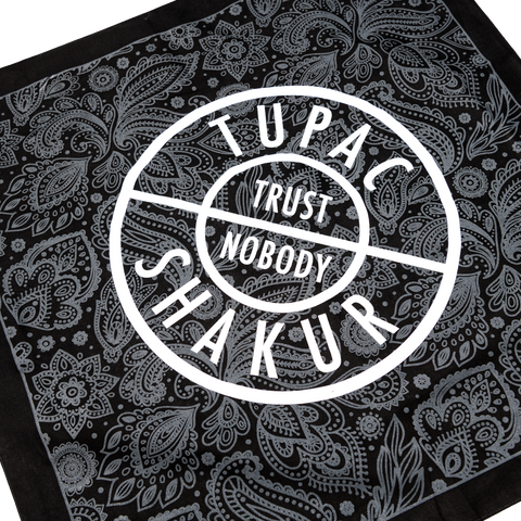 Trust Nobody Bandana - Accessories 2PAC OFFICIAL MERCHANDISE STORE - T-SHIRT - ALBUMS - LYRICS - CHANGES - MOVIE - MERCH - QUOTES - TUPAC - POEMS - POETRY