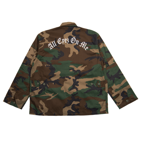All Eyez On Me Camo Jacket - Apparel 2PAC OFFICIAL MERCHANDISE STORE - T-SHIRT - ALBUMS - LYRICS - CHANGES - MOVIE - MERCH - QUOTES - TUPAC - POEMS - POETRY