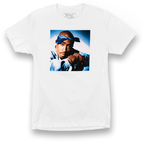 Blues T-Shirt (White) - Apparel 2PAC OFFICIAL MERCHANDISE STORE - T-SHIRT - ALBUMS - LYRICS - CHANGES - MOVIE - MERCH - QUOTES - TUPAC - POEMS - POETRY