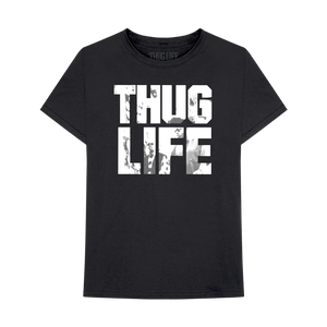 Thug Life Album Art Black T-Shirt