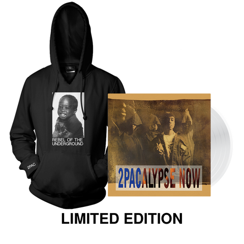 Rebel Pullover + Ltd. Edition Vinyl Bundle - Bundle 2PAC OFFICIAL MERCHANDISE STORE - T-SHIRT - ALBUMS - LYRICS - CHANGES - MOVIE - MERCH - QUOTES - TUPAC - POEMS - POETRY